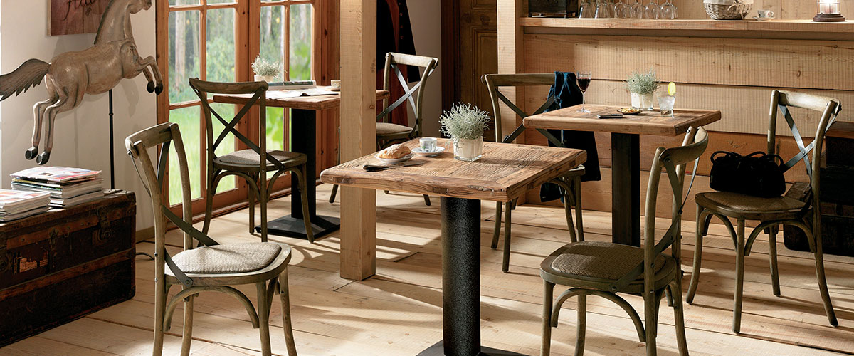 table bistrot carree fabulous table bistrot carree with. Black Bedroom Furniture Sets. Home Design Ideas