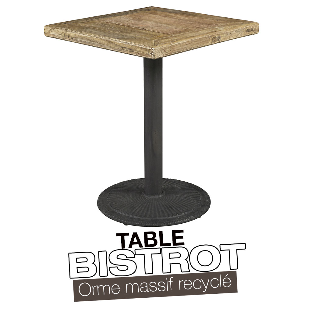 Mobilier pour restaurant for Table de bar bois