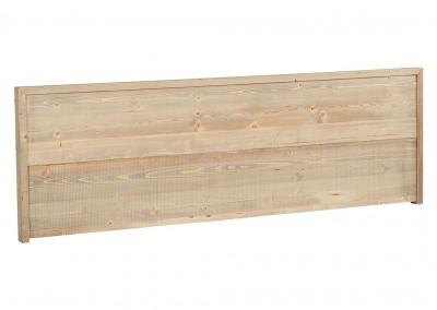 Tête de lit en pin brossé grisé