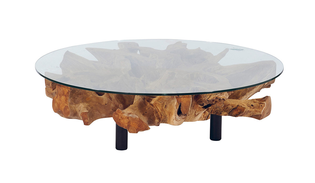 table basse racine teck scandiprojects. Black Bedroom Furniture Sets. Home Design Ideas