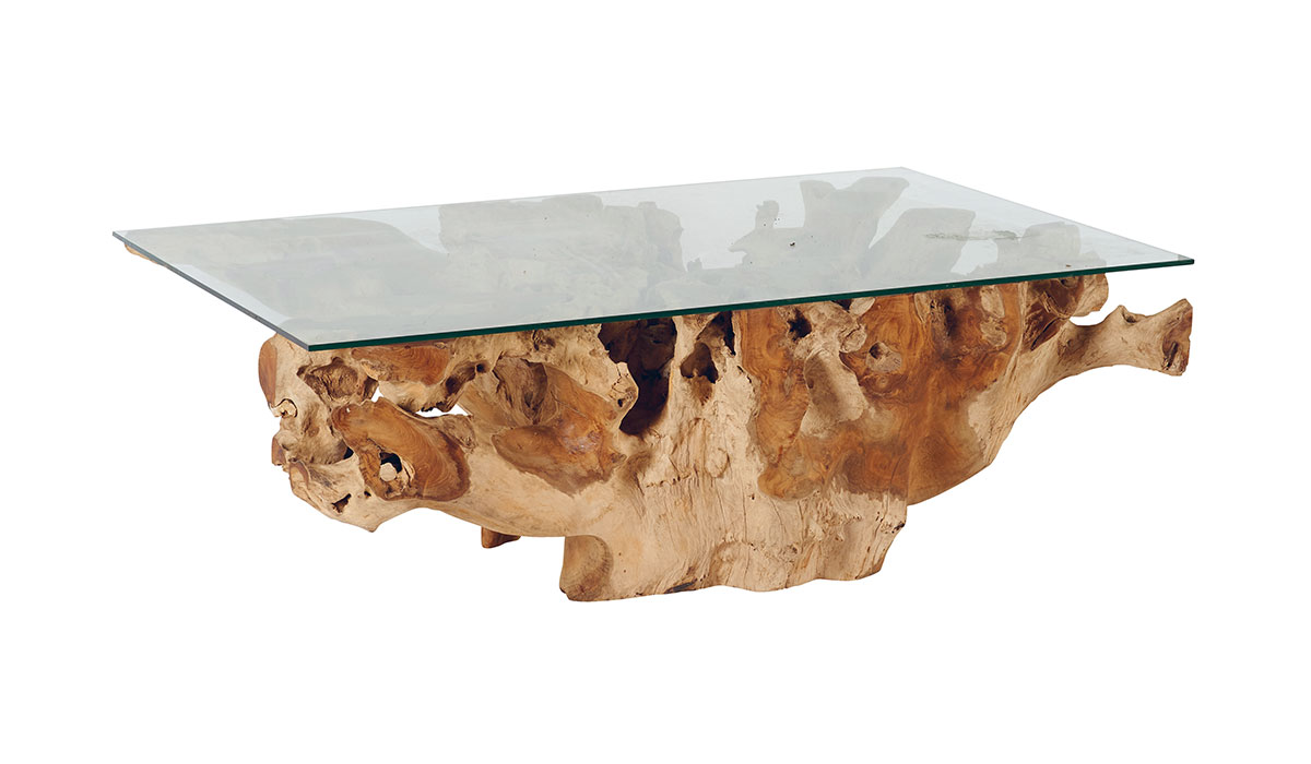 Table basse racine teck