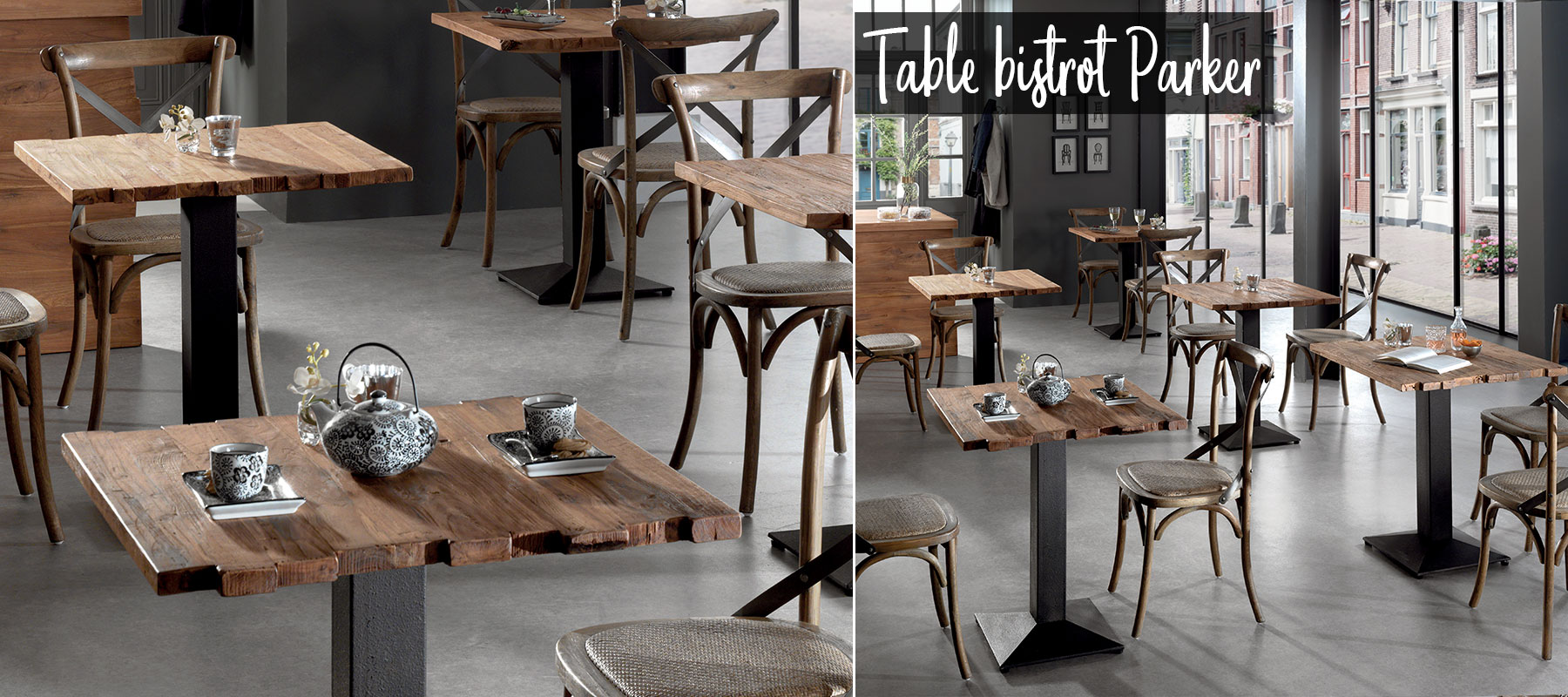 Table bistrot PARKER