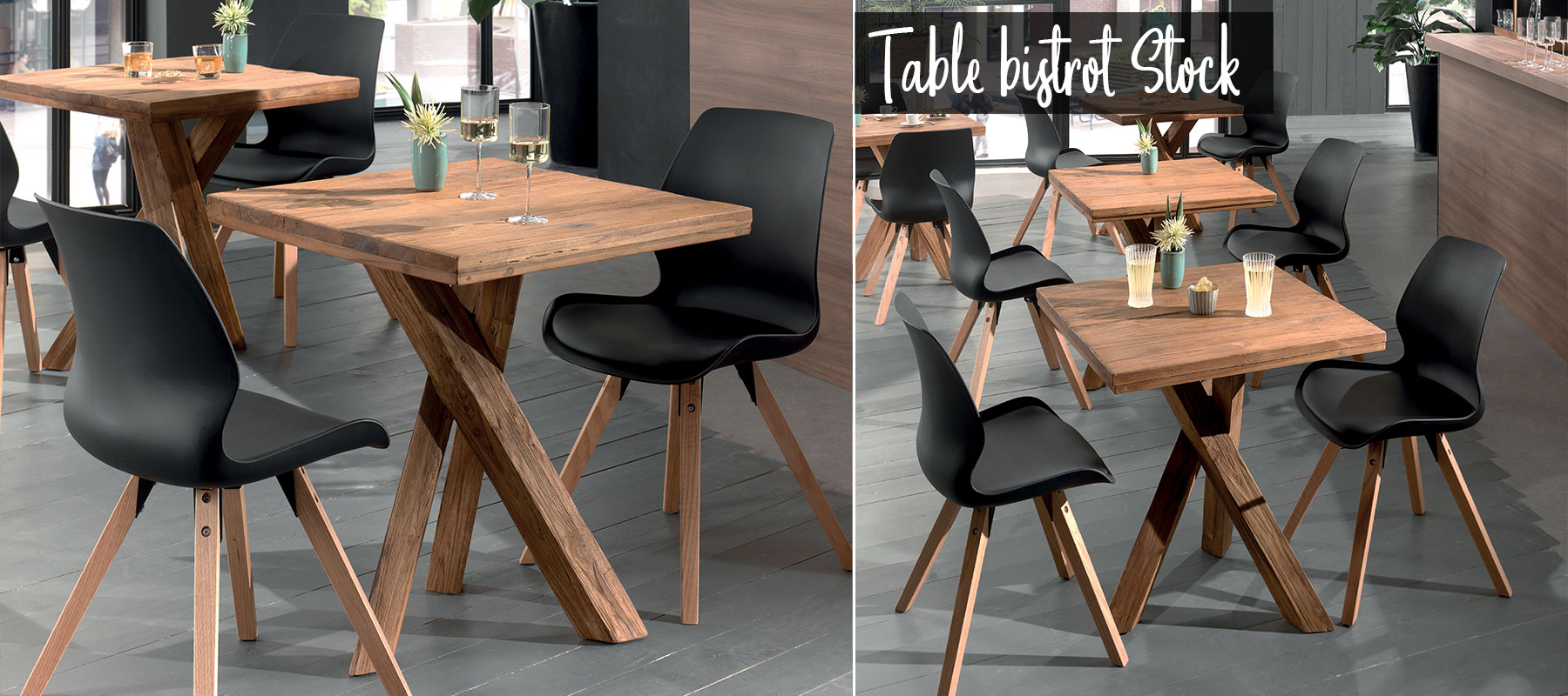 Tables bistrot STOCK