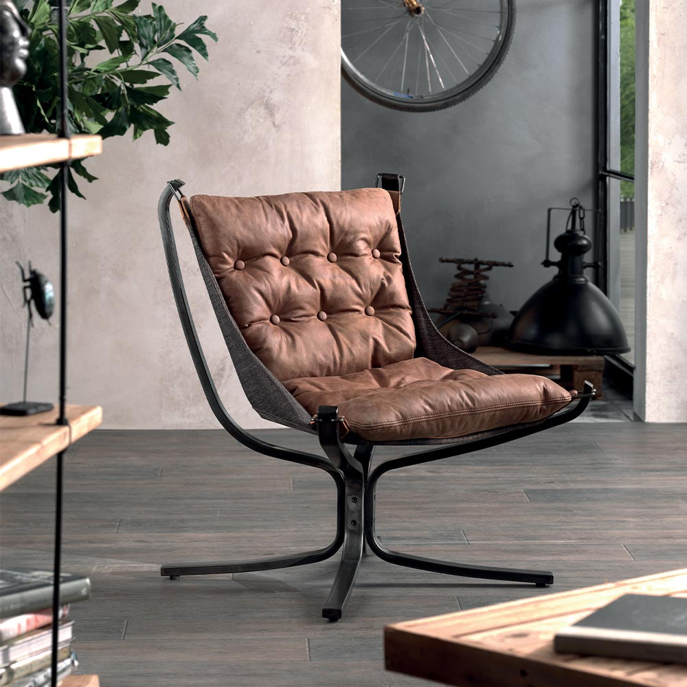 Fauteuil cuir NORMAN
