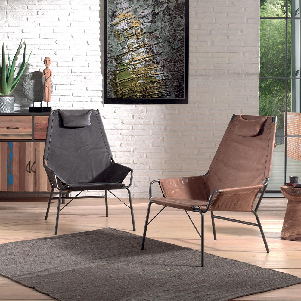 Fauteuil cuir LUTHER