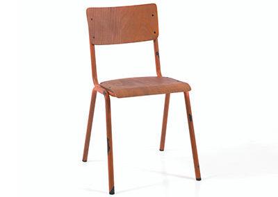 Chaise SKOLE orange